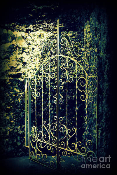 Wall Art - Photograph - The Gate In The Grotto Of The Redemption Iowa by Susanne Van Hulst