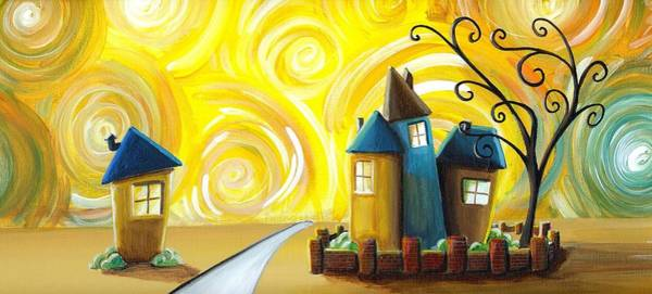 Neighborhood Painting - The Gated Community by Cindy Thornton