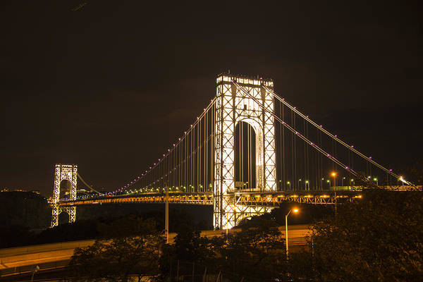 Photograph - The George Washington Bridge by Theodore Jones