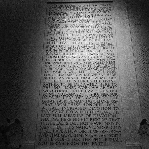 Politicians Wall Art - Photograph - The Gettysburg Address by Dave Bloom