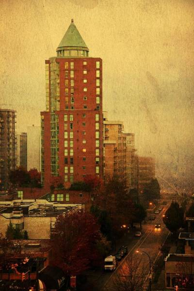 Vancouver Digital Art - The Gilford Tower by Julius Reque