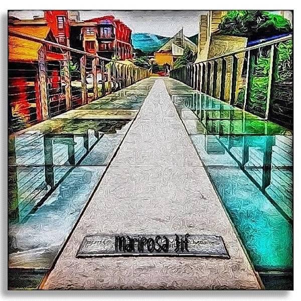 Edit Photograph - The Glass Bridge by Mari Posa