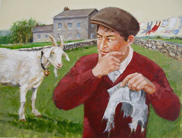 Painting - The Goat by Cliff Spohn