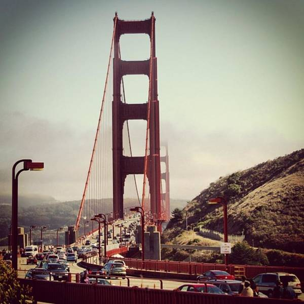 Road Photograph - The Golden Gate by Luisa Azzolini