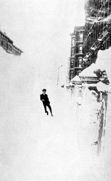 Wall Art - Photograph - The Great Blizzard, Nyc, 1888 by Science Source