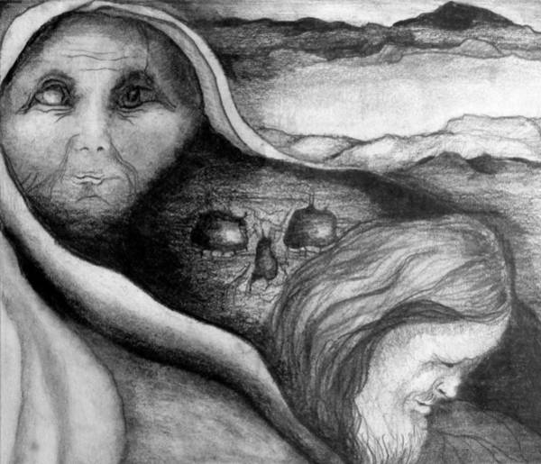 Holy Ghost Drawing - The Great Lie by Rory Sagner