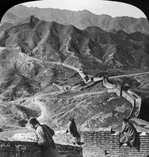 Photograph - The Great Wall Of China by Granger