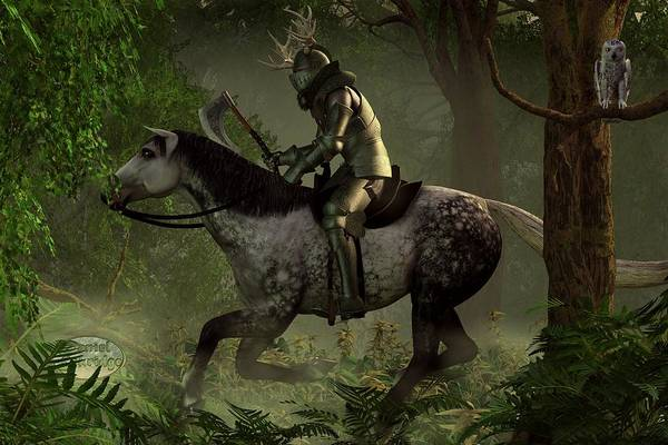 Digital Art - The Green Knight by Daniel Eskridge