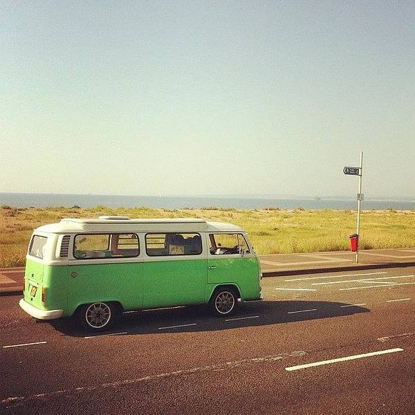 Vw Kombi Photograph - The Green Machine Down #southsea by Jimmy Lindsay