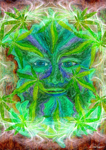 Digital Art - The Green Man by Diana Haronis