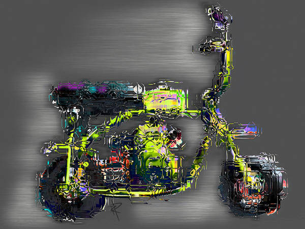Speed Mixed Media - The Greene Meanie by Russell Pierce