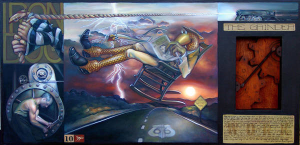 Rocker Painting - The Grinder by Patrick Anthony Pierson