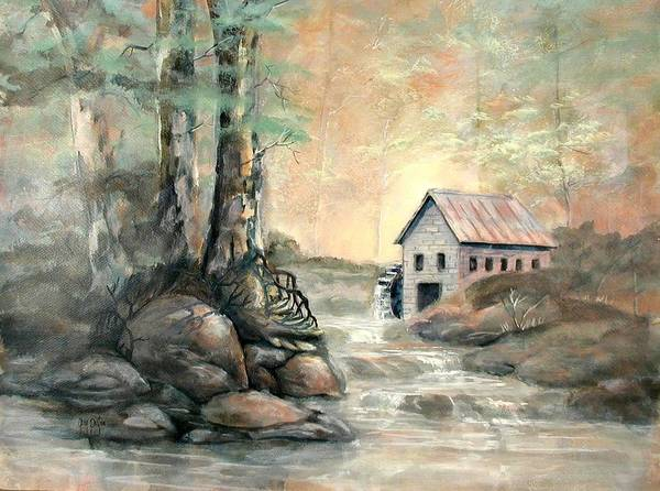 Painting - The Grist Mill by Gary Partin