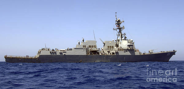 Photograph - The Guided-missile Destroyer Uss James by Stocktrek Images