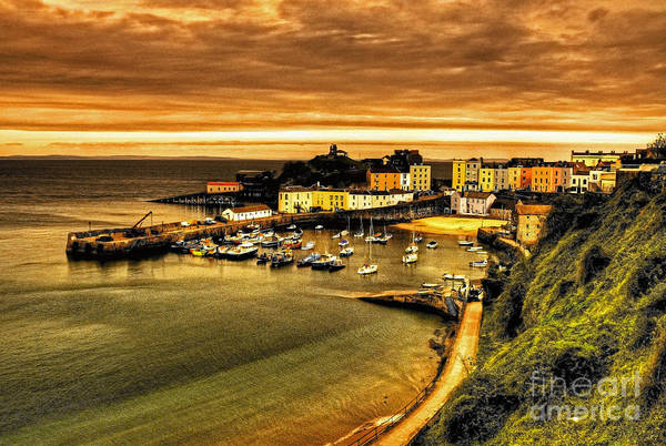 West Wales Photograph - The Harbour At Tenby  by Rob Hawkins