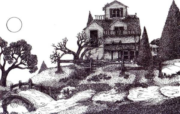 Haunted House Drawing - The Haunted House by Joella Reeder