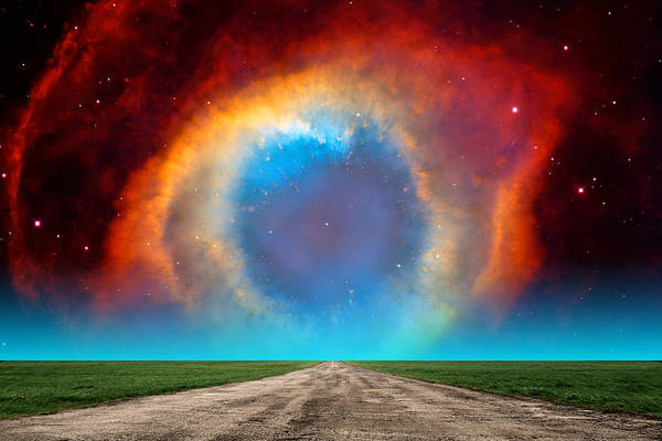 Photograph - The Helix Nebula Road by Larry Landolfi