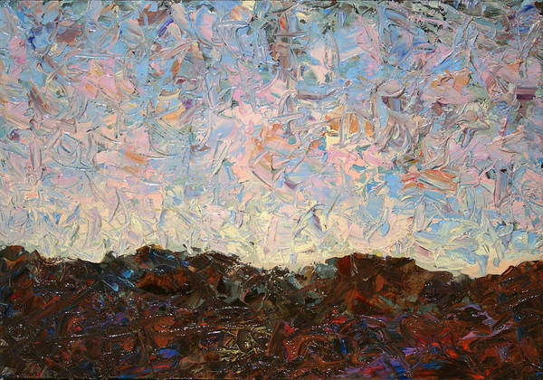 Palette Painting - The Hills by James W Johnson