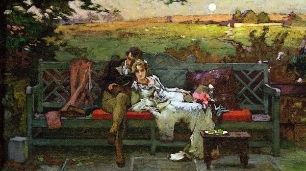 Honeymoon Painting - The Honeymoon by Marcus Stone