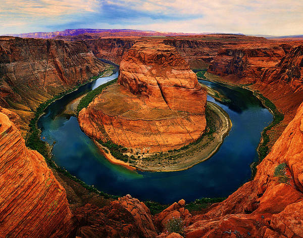 Horse Shoe Digital Art - The Horseshoe Bend by Daniel Chui