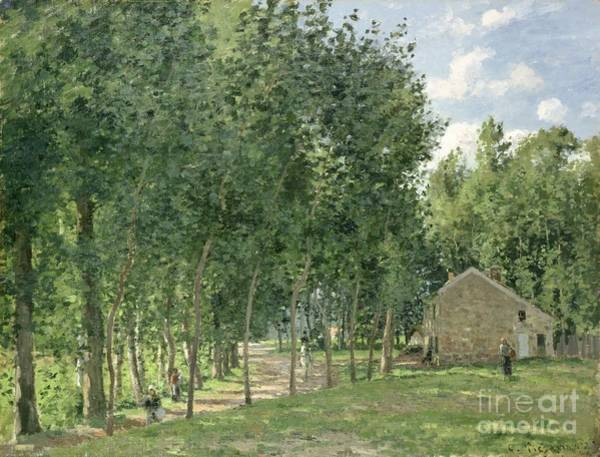 Lane Painting - The House In The Forest by Camille Pissarro