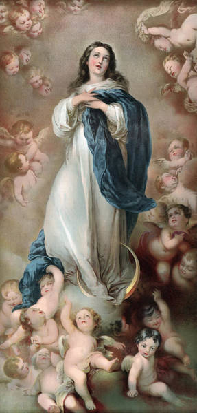 The Immaculate Conception, Depicting Art Print by Everett