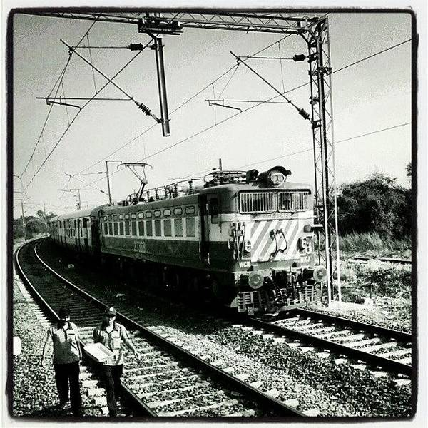 Transport Photograph - The Indian Railways Chugs Along by Ankur Saxena