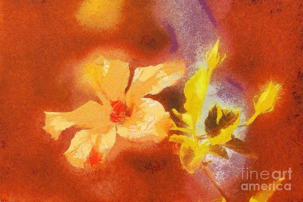 Digitalart Painting - The Iris Flower by Odon Czintos