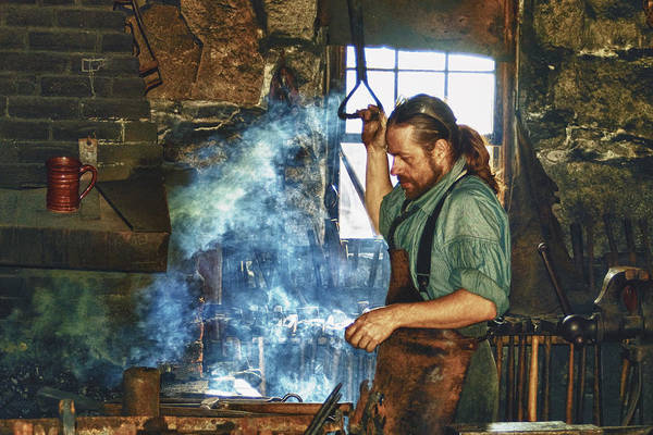 Photograph - The Iron Man- Blacksmith by Joann Vitali