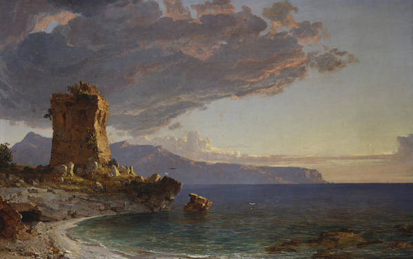Capri Wall Art - Painting - The Isle Of Capri by Jasper Francis Cropsey