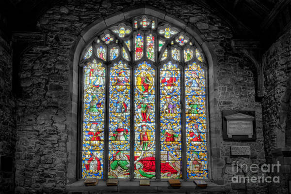 Cemetaries Wall Art - Photograph - The Jesse Window  by Adrian Evans