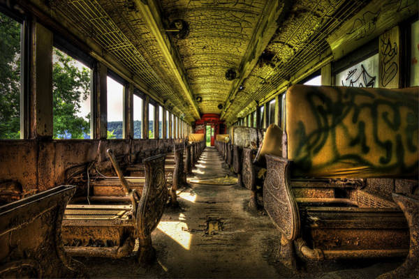 Train Car Photograph - The Journey Ends by Evelina Kremsdorf