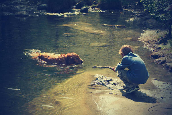 Fetch Photograph - The Joys Of Innocence by Laurie Search