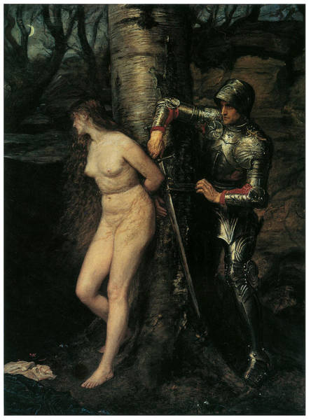 Millais Painting - The Knight Errant by John Everett Millais