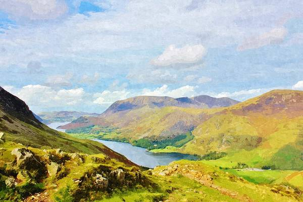 Lake District Painting - Buttermere Lake by Sophie Elliott