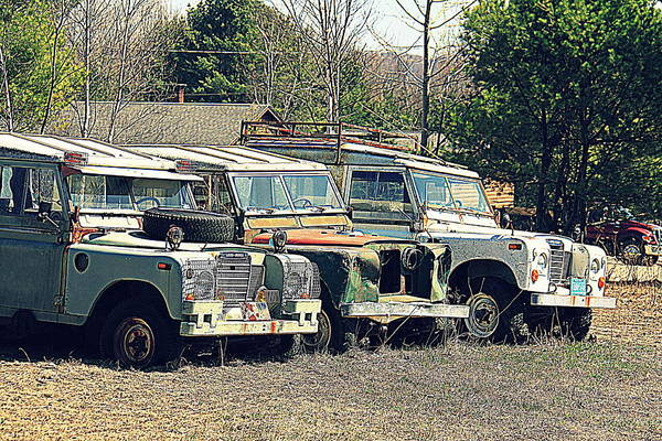 Photograph - The Land Rover Graveyard by Doug Mills