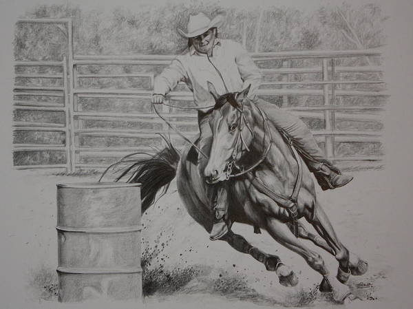 Barrels Drawing - The Last Barrel by Tammy Taylor