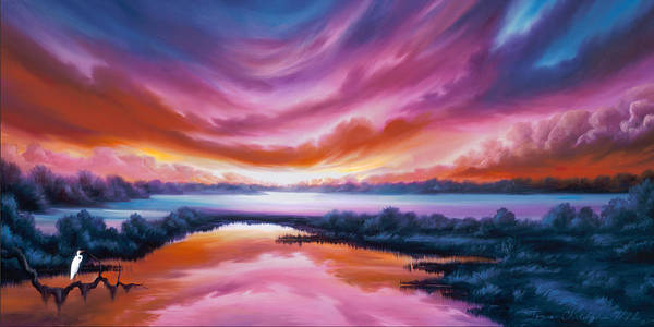 Painting - The Last Sunset by James Christopher Hill