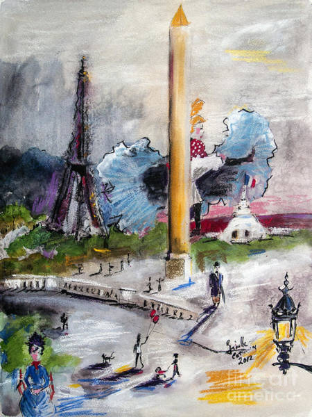 Mixed Media - The Last Time I Saw Paris by Ginette Callaway