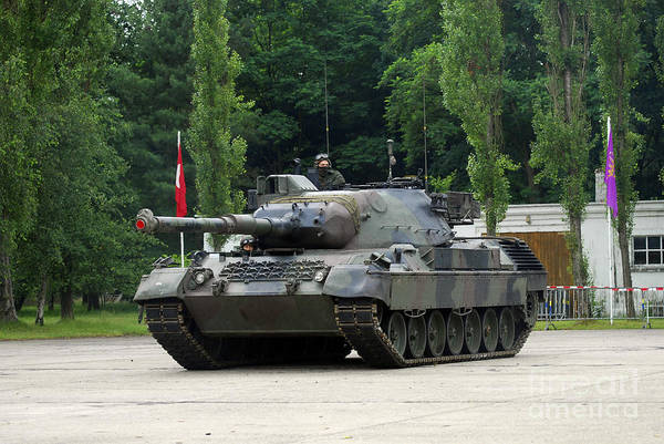 Photograph - The Leopard 1a5 Mbt Of The Belgian Army by Luc De Jaeger