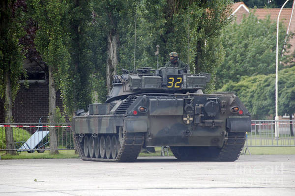 Photograph - The Leopard 1a5 Of The Belgian Army by Luc De Jaeger