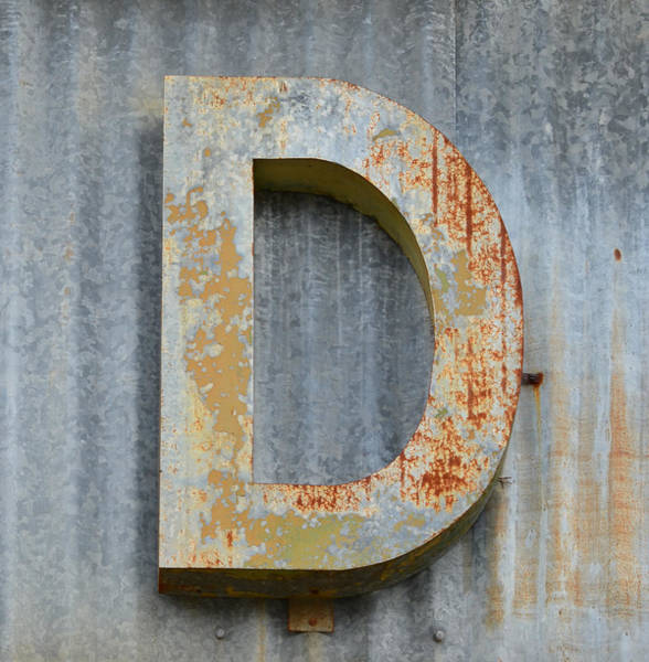 Wall Art - Photograph - The Letter D by Nikki Marie Smith