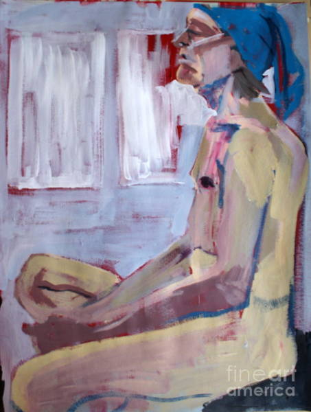 Crossed Legs Painting - The Life Of Brian by Joanne Claxton