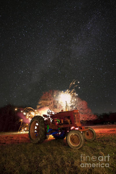 Deterioration Photograph - The Little Red Tractor That Could by Keith Kapple