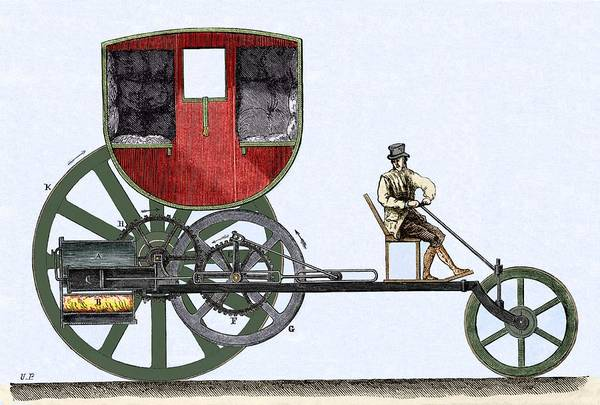 Felton Photograph - The London Steam Carriage 1803 by Sheila Terry