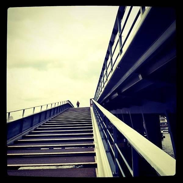 Road Photograph - The Lone Pedestrian. #bridge by Robbert Ter Weijden