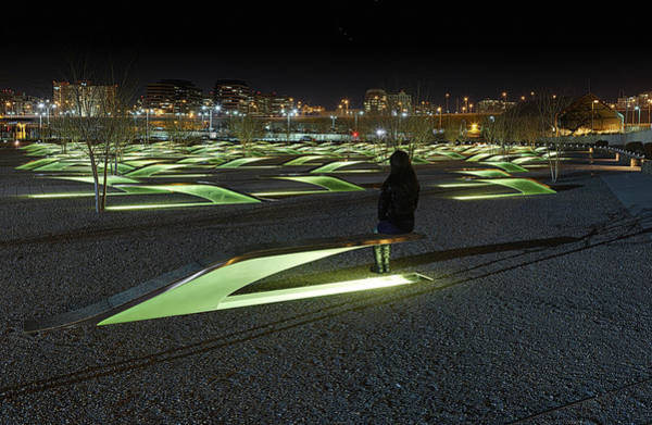 Photograph - The Lonely Tourist At Pentagon Memorial by Metro DC Photography