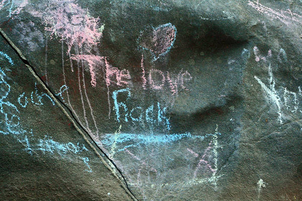 Photograph - The Love Rock by Cyryn Fyrcyd