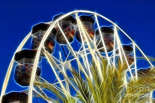 Wagon Wheel Digital Art - The Magic Ferris Wheel Ride by Mariola Bitner