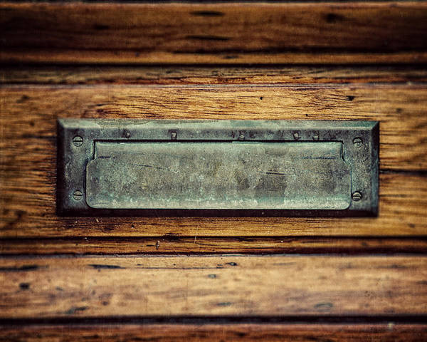 Mail Slot Photograph - The Mail Slot by Lisa Russo